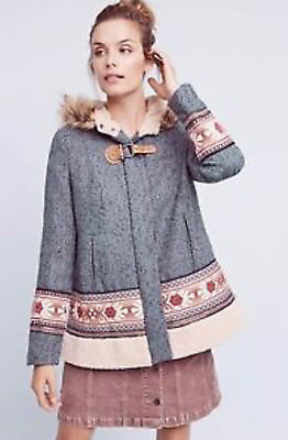 bf2b78574 NWT ANTHROPOLOGIE ELEVENSES Embroidered Solstice Bomber jacket Size ...