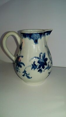 Early Worcester ? Blue & White Small Jug 11 Cms Tall