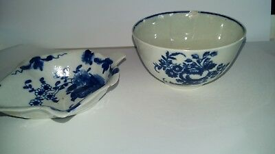 2 X Pieces Of Early Blue & White Porcelain A/s