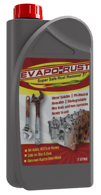 Evapo-Rust 1L Rust Remover Liquid Solution Removes Metal Oxides Water Soluble
