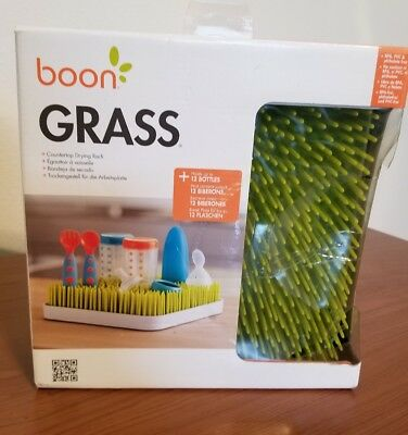 Boon Grass Countertop Baby Bottle Drying Rack (Green Lawn)