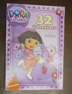 Dora the Explorer&Boots 32 Classroom Valentines& Stickers Bilingual Spanish 2008