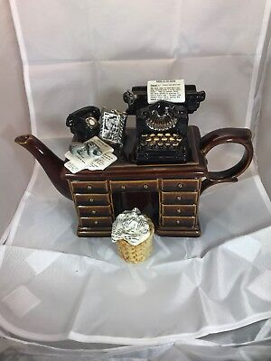 paul cardew teapot The Crime Writers Desk Complete With Waste Paper Basket