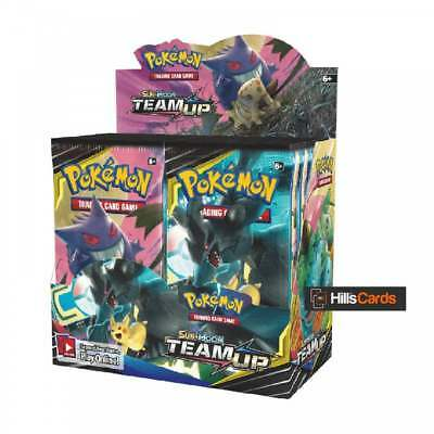 Pokemon Sun & Moon Team Up Sealed Booster Box of 36 Packs SM-9 TCG Trading Cards