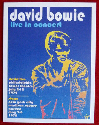 DAVID BOWIE - Individual Trading Card - Card #06 - Live in Concert (1974/1978)
