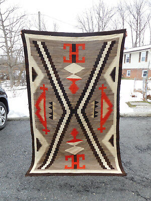 Antique Navajo blanket American Indian art rug native great weaving
