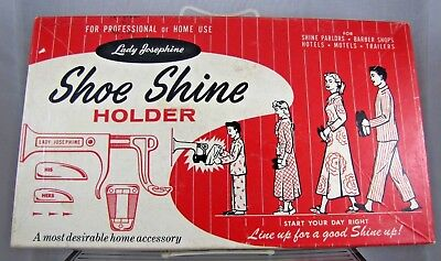Vintage Lady Josephine Shoe Shine Holder in Original Box - Missing One Piece