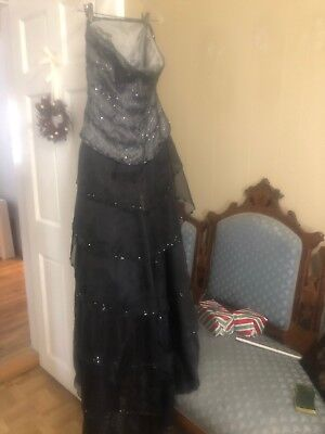 black evening gown size 12