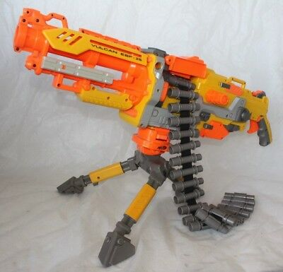 NERF VULCAN EBF - 25 AUTOMATIC BLASTER with TRIPOD STAND and FULL AMMO CLIP