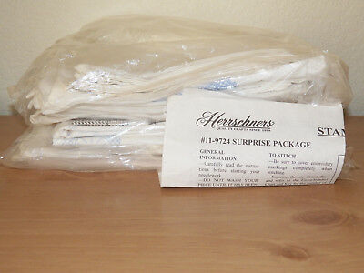 Herrschners Stamped Embroidery Surprise Package Large Miscellaneous Lot