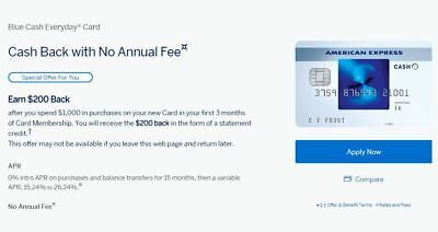 American Express Blue Cash Everyday Card - Get $200 for signing up!