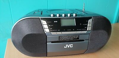 JVC Portable Boombox DAB Radio CD Player Bluetooth Cassette Digital Radio USB