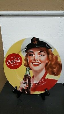 "Coca Cola Sailor Girl 10.5"" Dinner Plate"