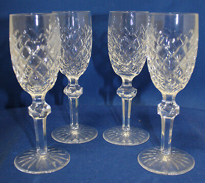 Waterford Powerscourt Set of 4 Sherry Glasses Cut Glass Crystal