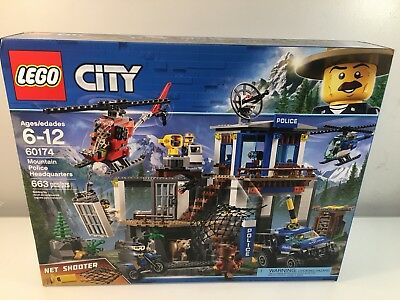 Lego City Police Mountain Police Headquarters 60174 Building Kit