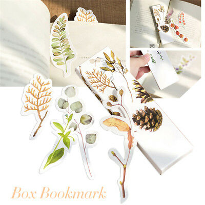 30 PCs/Set Stationery Vintage Flower Message Card Plant Bookmark Book Holder