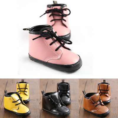 Spring Autumn Baby Kids Boys Girls Soft PU Leather Toddler Shoes Martin Y20K