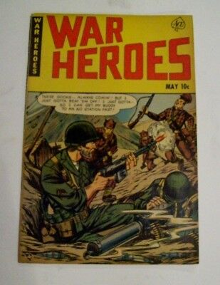 War Heroes #1 Ace Magazines May 1952 Vintage Comic Book 10Cent Cover Cost