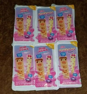 Lot of 6 Num Noms Snackable Dippers - Series 1 Slime color change Blind bags New