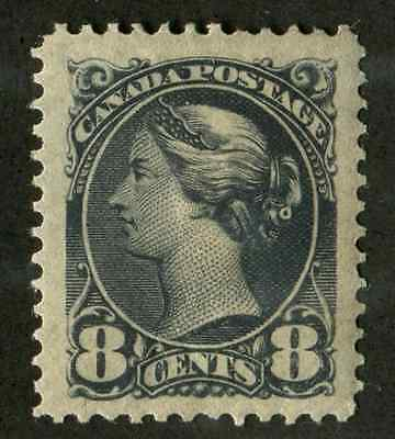 Canada #44 (SG#120) 8c Violet Black Small Queen Very Fine Mint Hinged Jumbo