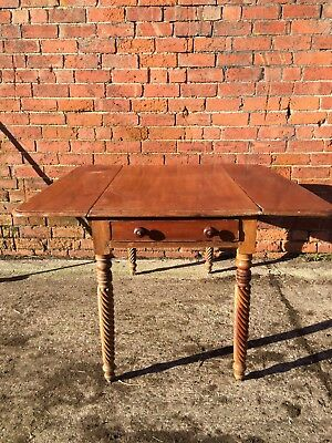 Vintage Double Drop Leaf Table With Draw.