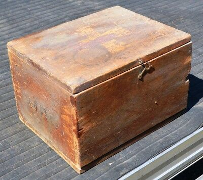 Wooden First Aid Box - Old