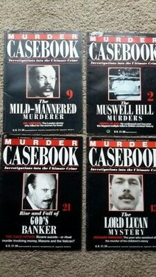 Murder Casebook Magazines 4 Issues 115 To 119