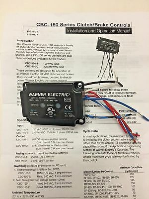 WARNER ELECTRIC CBC-150-1 Clutch/Brake Control, 120VAC, 90VDC