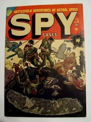 Spy Cases #10 Hercules Publishing 1952 Comic Book 10Cent Cover Cost