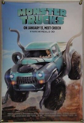 Monster Trucks Ds Rolled Orig 1Sh Movie Poster Lucas Till Jane Levy (2017)