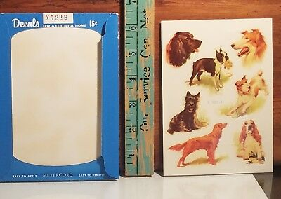 CUTE DOG DOGGY, SCOTTY Vintage Meyercord Decals package new old stock