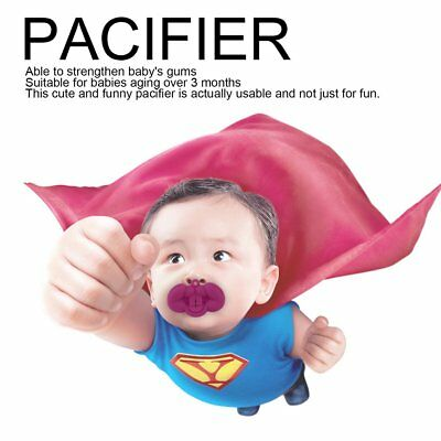 Funny Baby Toddler Infant Pacifier Nipple Soother Silicone Sea Fox Shape T59F
