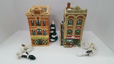 "Dept 56 Snow Village ""MAINSTREET HARDWARE"" Store & ""Toy Shop"" 2 Buildings"