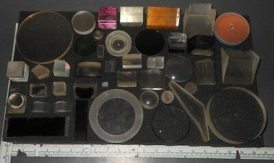 Laser Optical Mirrors Filters Prisms Optics Lenses Lot #3