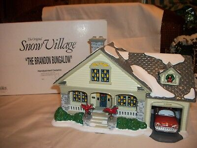The Original Snow Village-Department 56 -The Brandon Bungalow - # 54918-Retired