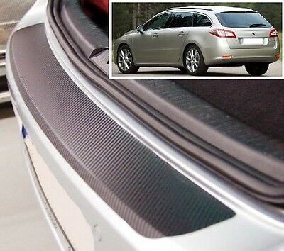 Peugeot 508 SW - Carbon Style rear Bumper Protector