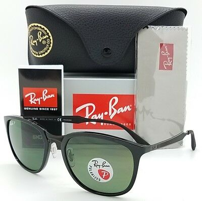 248adaf58d509 NEW Rayban sunglasses RB4299 601 9A Black Green Polarized AUTHENTIC Classic  4299