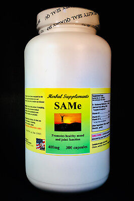 SAM-e 400mg depression aid, pain, spine, hips, knees - 300 capsules. Made in USA