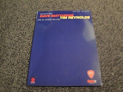 Dave Matthews- Live at Luther College- Guitar Tablature Sheet Music Book