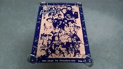 Wreckless Eric original 1980's Promo in store poster