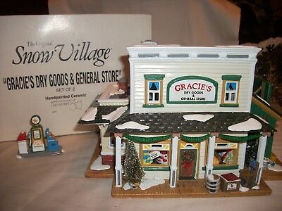 Department 56 Snow Village Gracie's Dry Goods & General Store