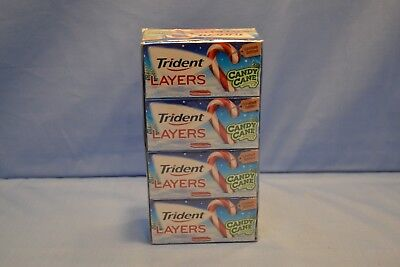 """12 Packs Trident Layers Gum, Candy Cane Limited Edition BB 06/18 """"Collectible"""""""