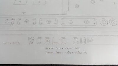 Original Backbox Insert Engineer Drawing for 1978 Williams World Cup Pinball!