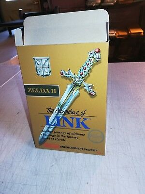 Zelda II 2 The Adventure of Link Box Only NES Nintendo Replacement Art Case/Box!