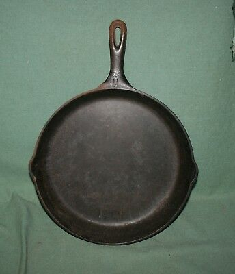 Large Antique Vollrath Ware Ii Cast Iron Skillet Heat Ring Clean