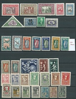Russia Lithuania Nice Lot Earlier Mint Hinged Some Heavy Fresh