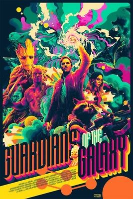 Guardians of the Galaxy Variant by Matt Taylor Mondo Poster Avengers Marvel GOTG