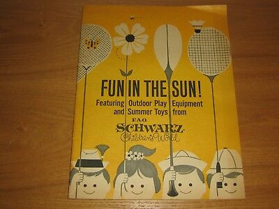 Vintage F.a.o. Schwarz Outdoor And Summer Toy Catalog