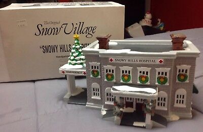 Department 56 The Original Village Snowy Hills Hospital, Sleeve And Styrofoam