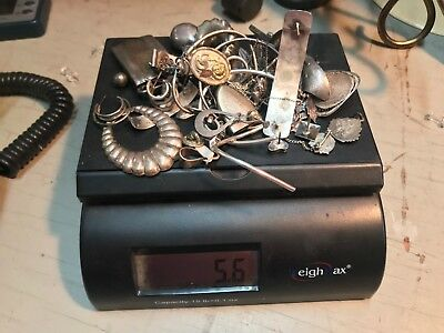 Lot Sterling Silver 925 or marked Sterling--Scrap/nonscrap--5.6 ounces